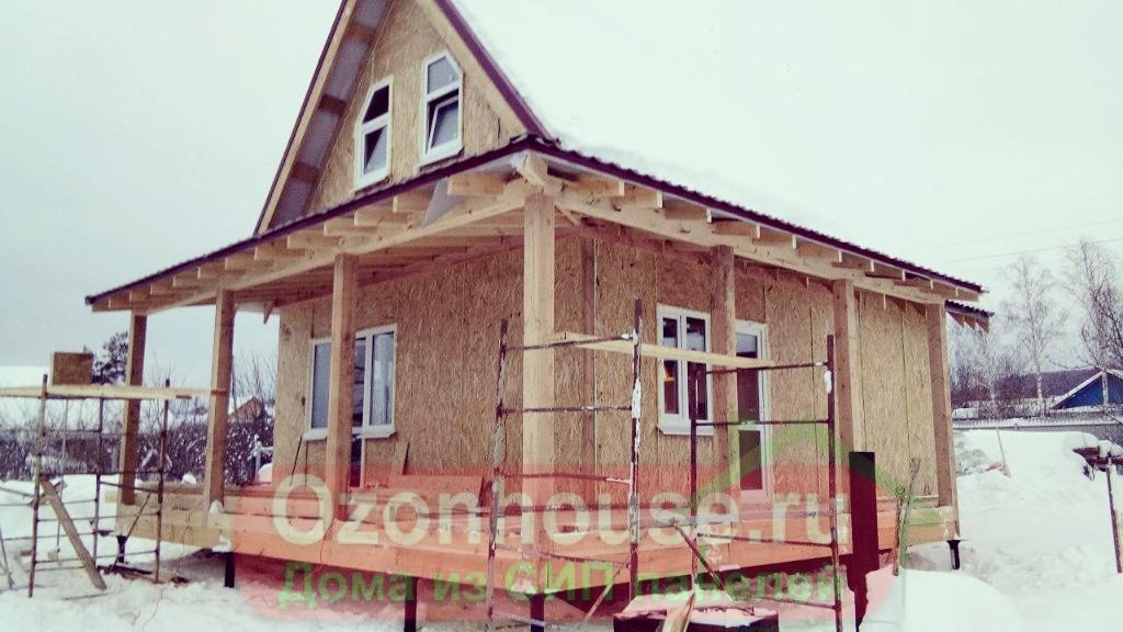 Дом из СИП панелей в Торновом 102 кв.м